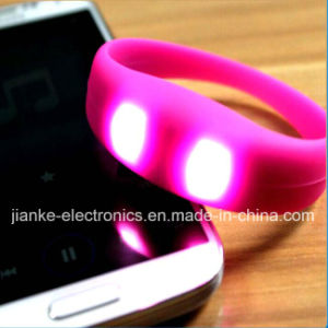 Most Popular Music Control LED Bracelet with Logo Print (4010)
