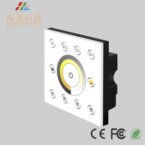 12-24V DC Fashionable Multiple Zone Color Temperature DMX512 4CH LED Touch Panel Controller pictures & photos