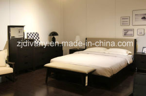 American Style Bedroom Furniture Wooden Double Bed (A-B37) pictures & photos