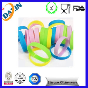 Customs Design Cheap Silicone Bracelet, Printed Logo Silicone Wristband