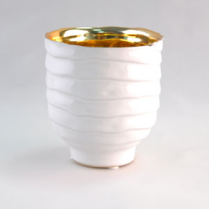 White Ceramic Candle Container Wholesale