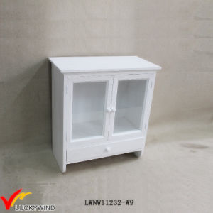 China Glass Doors Vintage French Handmade Small Wall Cabinet China