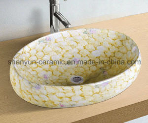 Ceramic Basin Bathroom Color Basin (MG-0046) pictures & photos