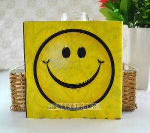 Smiling Face Disposable Paper Tableware Napkin