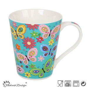 Ceramic New Bone China Butterfly Deisgn Cheap Mug pictures & photos