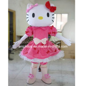 Halloween Costume Hello Kitty Pink Mascot Costume