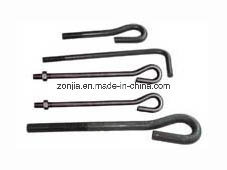 Galvanized Forged Steel Eye Anchor Bolts with Thread End