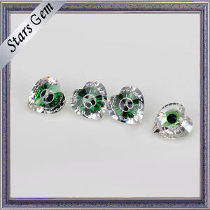 Excellent Green Glass and White Mixed Color Cubic Zirconia Gemstone pictures & photos