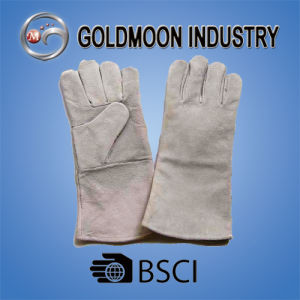 Grey Cowhide Split Leather Welding Safety Work Glove pictures & photos