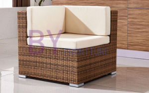 Poly Rattan Material Outdoor L-Shape UV Resistant Villa Garden Furniture