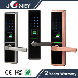 Security Metal Casing Fingerprint Door Lock, with Finger Touch Keypad Door Lock