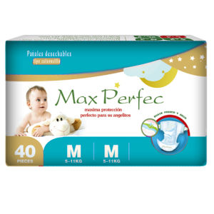 Soft and Breathable Baby Diapers (blue package, M)