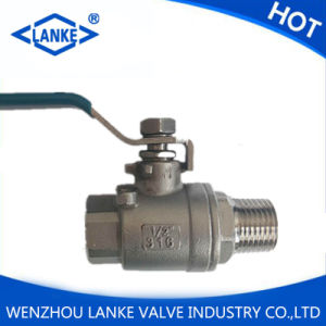 2PC Male-Female Thread Ball Valve for Stainless Steel