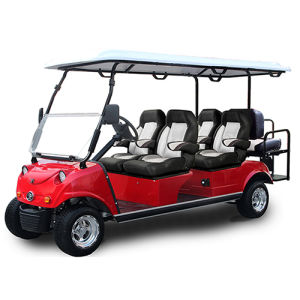 Solar Panel Electric Golf People Mover, 4+2-Seater Black pictures & photos