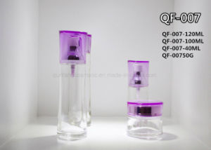 Design Personal Skin Care Packaging Glass Cosmetic Bottle for Cosmetic Packaging Manufacturer Qf-087