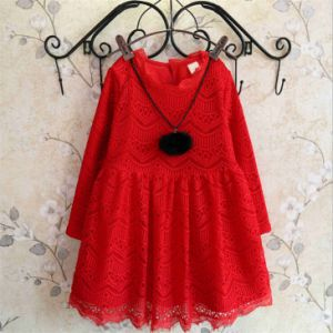 Kd1121 Boutique Quality Lace Princesss Dress with Fleece for Kids Girls pictures & photos