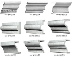 China Interior Plain Decorative Crown Moulding Profiles Line, Grc