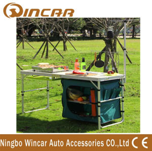 Multi-Function Aluminum Folding Table with Cloth Cabinet