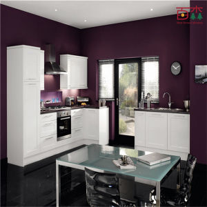 Modern Kitchen Designs Shiny White Painting Modern Kitchen Cabinet pictures & photos