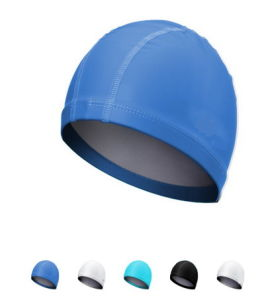 Waterproof Double Fabric Swimming Cap pictures & photos