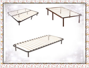 China Wooden Slat Bed Frame 8 Legs Queen Full King China Wooden