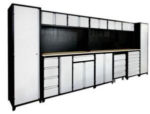 Ls Gsc8989 Modular Metal Garage Storage Cabinet Systems Red