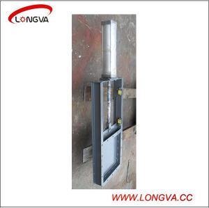 Stainless Steel 304 Sanitary Pneumatic Slide Gate Valve pictures & photos