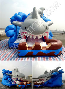 China Inflatable Bouncer Super Shark Slide with CE, En14960 Approved B4121 pictures & photos