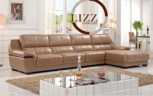 Modern Living Room PU Leather Sofa for Home L. P6011 pictures & photos