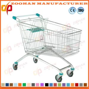 Wire Metal Store Grocery Folding Supermarket Shopping Cart Trolley (Zht164) pictures & photos