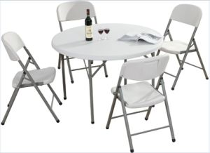 Round Plastic Folding Dining Table for Outside Events pictures & photos
