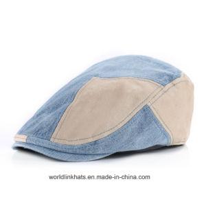 China Custom Newest Design Denim Joint Newsboy Cap Blank IVY Cap ... 31e3d2de926