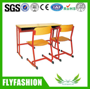 Wooden Double Desk Set for Classroom Sf-04D pictures & photos
