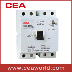 Cei-100 4p Earth Leakage Circuit Breaker (FI-100 4P) pictures & photos