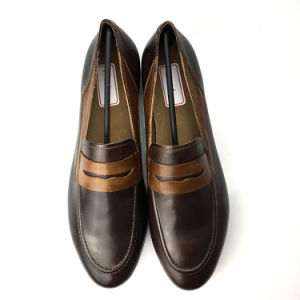 31c8b33f214e7 China Customized Penny Loafer Brown Oxford Leather Shoes - China ...