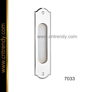 Simple Design Zinc Door Lock Handle on Plate (7033)