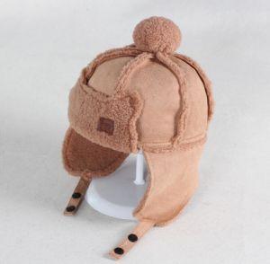 0b032c532 China Child Checked Earflap Winter Warm Trapper Hat Polar Fleece ...