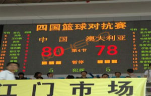 P20 Outdoor Stadium Advertising LED Display for Basketball Scoreboard