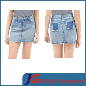 Women Cut off Denim Mini Skirts (JC2086) pictures & photos