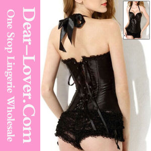 Elegant Black Sweetheart Halter Corset pictures & photos