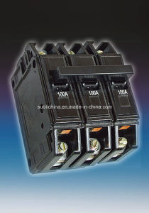 Bh 6-100A Three Pole Professional Black Case Miniature Circuit Breaker pictures & photos