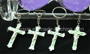 Religious Jesus Luminous Color Cross Fengshui Keychain