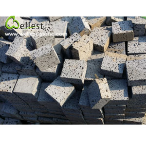 Factory Manufacture Natural Grey Basalt Cube Lava Stone pictures & photos