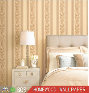 Customized Deep Embossed Vinyl Wall Paper with PVC Waterproof