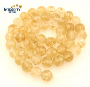 Synthetic Quartz Stone Size 6 8 10 12mm Yellow Imitation Crystal Beads