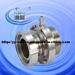 Hygienic Nut/Male Butterfly Valve Stainless Steel pictures & photos