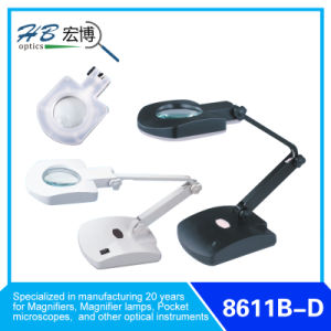"3.5"" 3diopter/8diopter Table Base LED Magnifier Lamps pictures & photos"