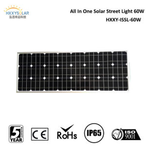 Dimmable Motion Sensor CE RoHS IP65 60W Solar Street Light with Lithium Battery Backup pictures & photos