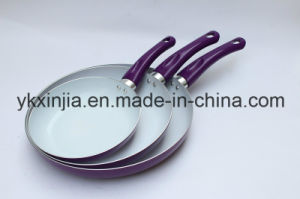 Cookware 3PCS Aluminum Ceramic Coating Frying Pan Sets Kitchenware pictures & photos