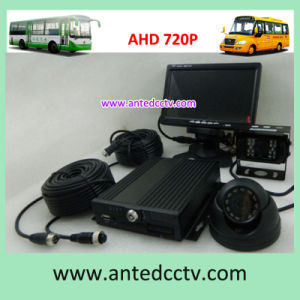 Cheap 720p 4 Channel Mobile Video Surveillance Camera and SD Card DVR for Bus Car Vehicles Taxi pictures & photos